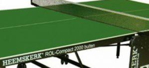 Groene tafeltennistafel
