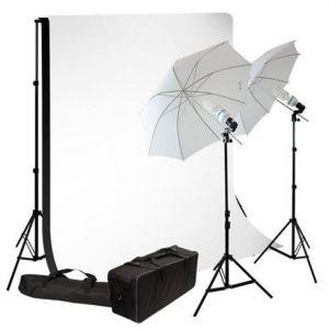 Fotostudio met apparatuur/materieel